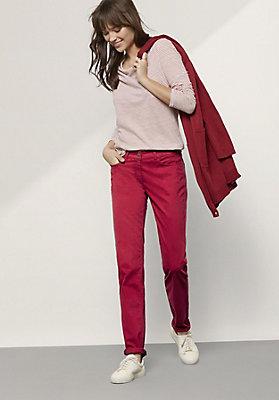 - Hose Slim Fit aus Bio-Baumwolle