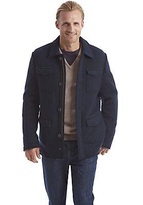 herrenkollektion-in-blau - Jacke aus reiner Schurwolle