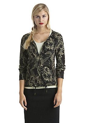 Jacken - Jacquard-Jacke aus reiner Bio-Baumwolle