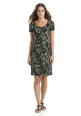 trend-fruehling-floral - Jacquard-Kleid aus reiner Bio-Baumwolle