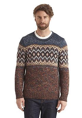 - Jacquard-Pullover aus Alpaka und Schurwolle