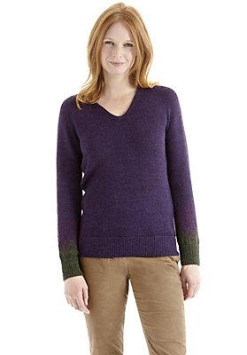 Pullover-und-Strickjacken Damen - Jacquard Pullover aus Babyalpaka mit Schurwolle