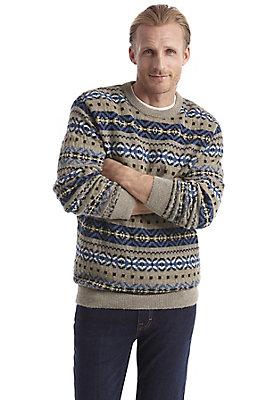 Pullover-und-Strickjacken Herren - Jacquardpullover aus reiner Schurwolle