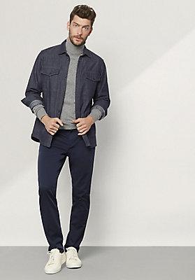 - Jeans Hemdjacke aus reiner Bio-Baumwolle
