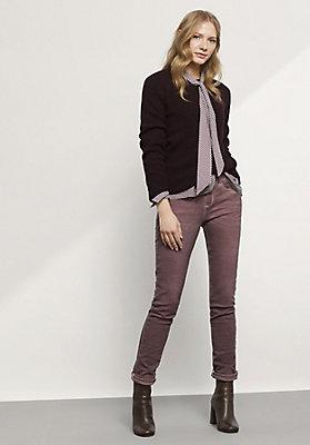 - Jeans Slim Fit Coloured Denim aus Bio-Baumwolle