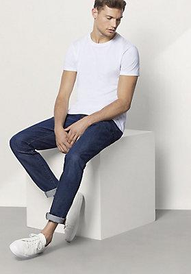 - Jeans Tapered Fit aus reiner Bio-Baumwolle