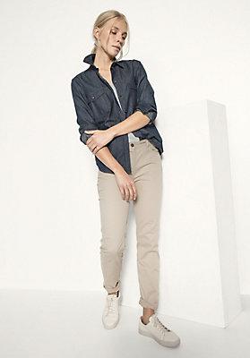 - Jeansbluse aus reiner Bio-Baumwolle