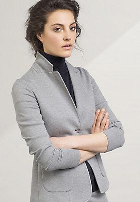 - Jersey-Blazer aus Bio-Baumwolle