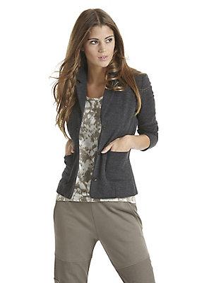 Jacken - Jersey-Blazer aus Bio-Merinowolle mit Bio-Baumwolle