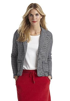 - Jersey-Blazer aus reiner Bio-Baumwolle