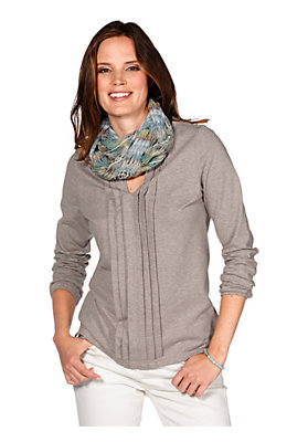 - Jersey-Bluse aus Bio-Baumwolle mit Kaschmir
