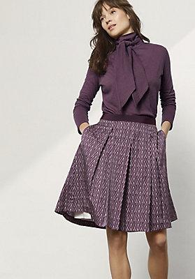 - Jersey-Bluse aus Bio-Baumwolle mit Schurwolle