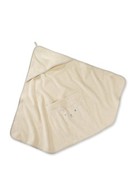- Kapuzen Badetuch aus reiner Bio-Baumwolle