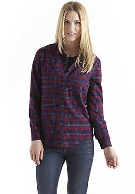 - Karierte Bluse aus reiner Bio-Baumwolle