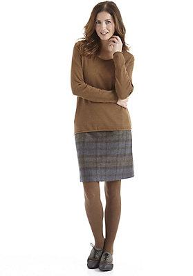 - Karierter Wollrock aus reiner Schurwolle