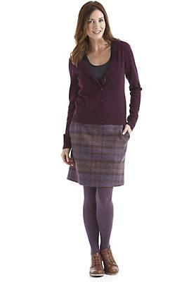 damenkleidung-aus-schurwolle - Karierter Wollrock aus reiner Schurwolle