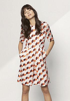 - Kleid aus Bio-Baumwolle mit Seide und Hanf