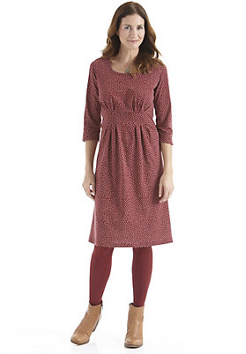 damen-neuheiten-herbst-kollektion-2014 - Kleid mit Punkten aus reiner Bio-Baumwolle