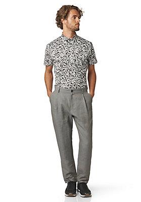 - Kurzarmhemd Slim Fit aus Bio-Baumwolle