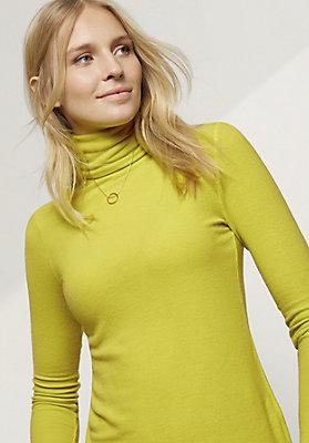 - Langarm-Shirt aus Modal mit Schurwolle