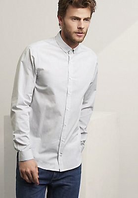 - Langarmhemd Modern Fit aus reiner Bio-Baumwolle