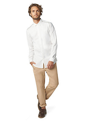 - Langarmhemd Slim Fit aus Bio-Baumwolle