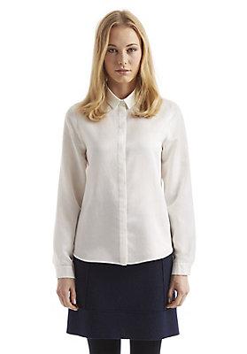 - Lange Bluse aus Bio-Baumwolle mit Seide und Hanf