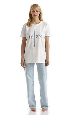 - Lange Damen-Pyjamahose aus reiner Bio-Baumwolle