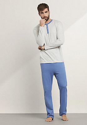 - Langer Pyjama aus reiner Bio-Baumwolle