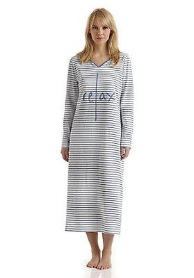 - Langes Nachthemd aus reiner Bio-Baumwolle