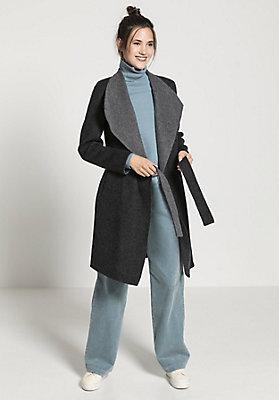 - Mantel aus Alpaka mit Schurwolle