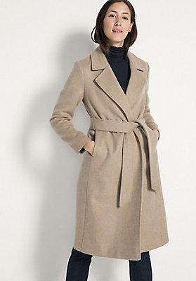 - Mantel aus Kamelhaar mit Seide