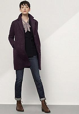 - Mantel aus Mohair mit Schurwolle