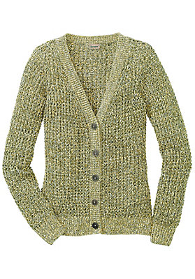 - Mouliné-Strickjacke