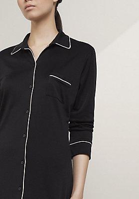 - Nachthemd aus Bio-Baumwolle und Seide