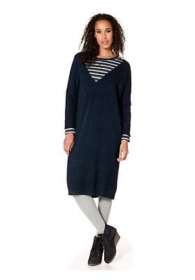 neukunden-aktion - Oversize-Strickkleid aus Schurwolle mit Kaschmir