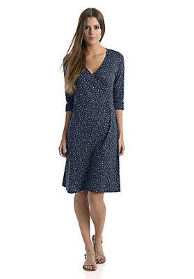 Kleider - Pünktchen-Wickelkleid aus reiner Bio-Baumwolle