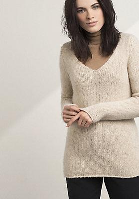 - Pullover aus Alpaka mit Bio-Baumwolle und Schurwolle