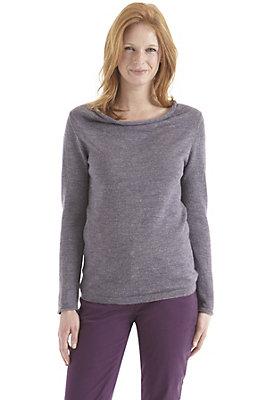 Pullover-und-Strickjacken Damen - Pullover aus Alpaka mit Leinen