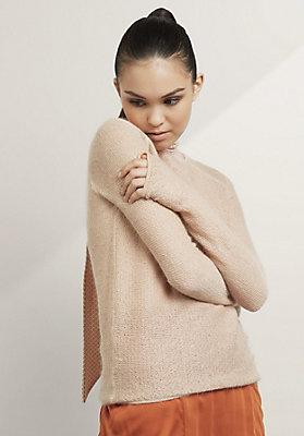 - Pullover aus Bio-Baumwolle mit Mohair und Seide
