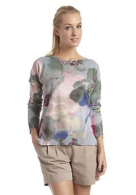 - Pullover aus Bio-Baumwolle mit Schurwolle