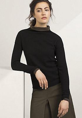 - Pullover aus Bio-Baumwolle und Bio-Merinowolle