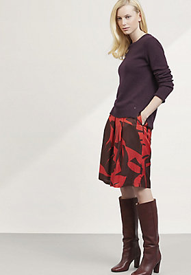 - Pullover aus Lambswool mit Mohair und Seide