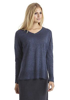- Pullover aus Leinen mit Merinowolle