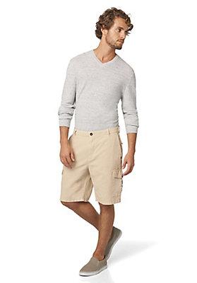 - Pullover aus Leinen mit Schurwolle