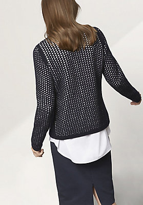 - Pullover aus Schurwolle mit Bio-Baumwolle