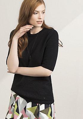 - Pullover aus Schurwolle mit Mohair und Seide
