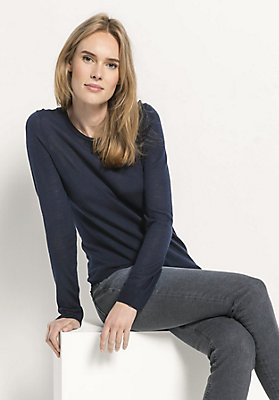 - Pullover aus reiner Bio-Schurwolle