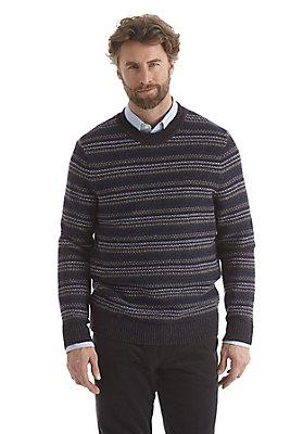 - Pullover gemustert aus reiner Schurwolle