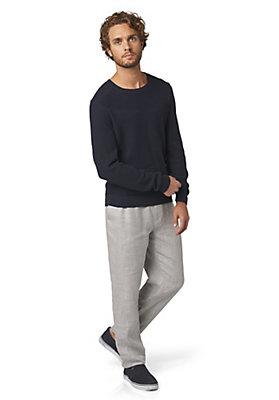 - Pullover im Strukturmix aus reiner Bio-Baumwolle
